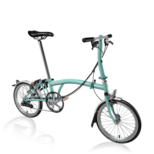 Brompton S6L 2017 Turkish Green/Turkish Green inc Marathon Tyres
