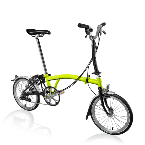 Brompton 2018 M6L Lime Green/ Black  Inc. Marathon Tyres