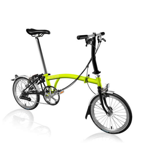 Brompton S6L 2017 Lime Green/Black Inc Marathon Tyres