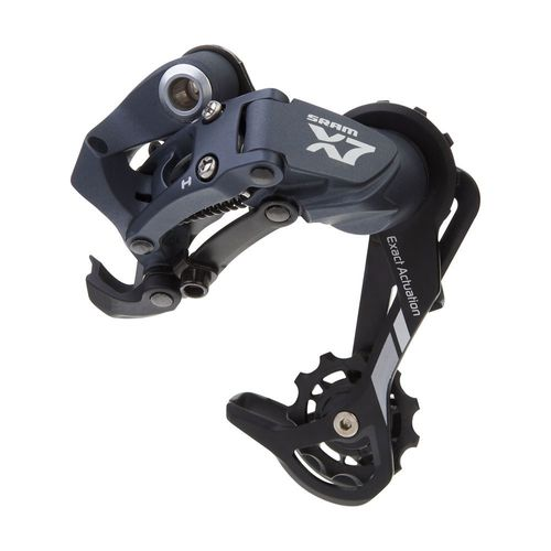 SRAM X7 Rear Derailleur (8-9spd) Medium Cage Storm Grey  1:1 act.ratio