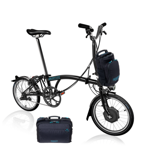 Brompton  Electric Bike EB/M6L  Black with Large Front Bag Option