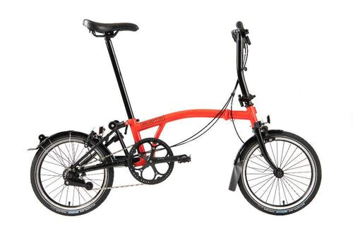 Brompton S2L Titanium 2020 Spec.Ed, Black Rocket Red
