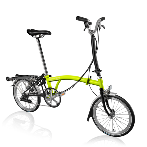 Brompton 2018 H6R Lime Green/Black Inc. Marathon Tyres