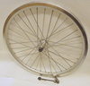 FRONT and REAR Q-Release Silver Wheels Stronger 36 Spoke  (One Pair)