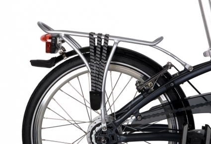 "Dahon ArcLite Design Hollow Aluminium Rear Rack 20"" BLACK"