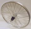 "Stronger Rear Wheel 20"" for  7 speed Cassette  36 Spoke Black  Rim and Spokes"