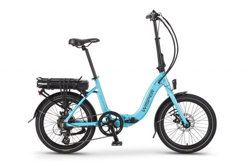 Wisper 806SE 36v Folding Electric Bike 375w Battery  Blue