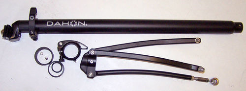 Dahon Eezz D3 Seatpost Complete with Stays. Linkages, Clamp and Bolts   Black