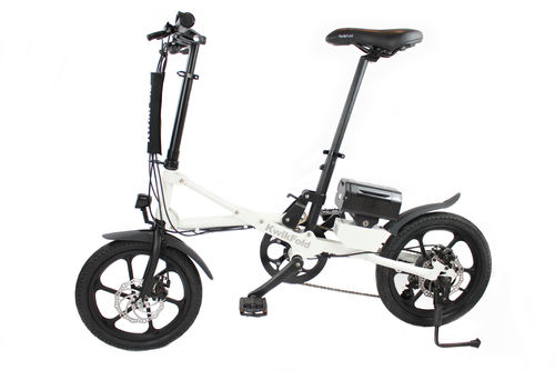 KwikFold XITE White Electric Folding Bike 36V