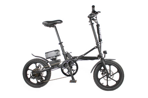 KwikFold XITE Black Electric Folding Bike 36V