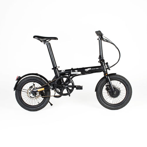 "Emu Mini 16"" Wheel Folding Bike Black with Larger 7aH Battery"