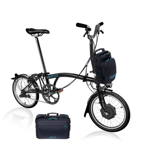 Brompton  Electric Bike EB/M2L  Black with Large Front Bag Option
