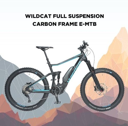"Wisper Wildcat Full Carbon Dual Suspension 19""  E- Bike"